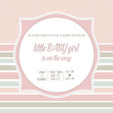 Baby girl shower card. Illustration Stock Images