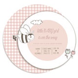 Baby girl shower card. Illustration Stock Photos