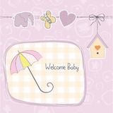 Baby girl shower card. Illustration in  format Royalty Free Stock Photography