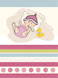 Baby girl shower card Royalty Free Stock Photo