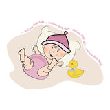 Baby girl shower card Royalty Free Stock Image