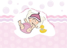 Baby girl shower card Stock Image