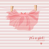 Baby girl shower card. Newborn background Royalty Free Stock Photography