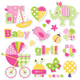 Baby girl shower collection Royalty Free Stock Photography