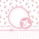 Baby girl shower with dress. Cute baby girl shower with dress Royalty Free Stock Photo