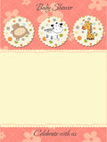 Baby girl shower invitation Stock Image