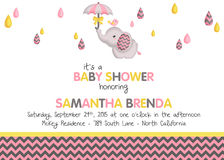 Baby girl shower invitation Royalty Free Stock Photo