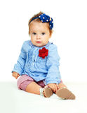 Baby girl sitting Royalty Free Stock Photos