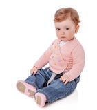 Baby girl sitting Stock Images