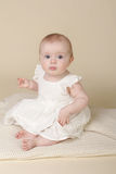Baby Girl Sitting Up Stock Photography