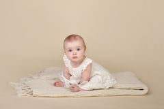Baby Girl Sitting Up Royalty Free Stock Image