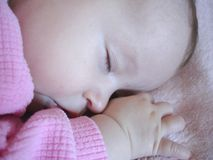 Baby Girl Sleeping Stock Photography