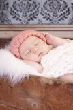 Baby girl sleeping Royalty Free Stock Photo