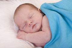Baby girl sleeping Royalty Free Stock Photos