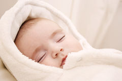Baby girl sleeping Royalty Free Stock Image
