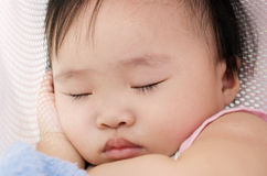 Baby girl sleeping Royalty Free Stock Images