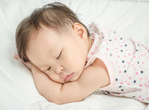 Baby girl sleeping Stock Image
