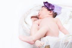 Baby girl sleeping Royalty Free Stock Photo