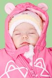 Baby girl sleeping and dreaming Stock Photo