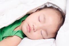 Baby girl is sleeping Stock Images