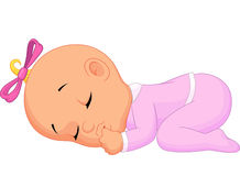 Baby girl sleeping. Illustration of Baby girl sleeping Royalty Free Stock Image