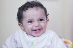 Baby girl smile Royalty Free Stock Photography
