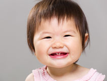Baby girl smile Stock Photos