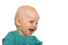 Baby girl smiling Royalty Free Stock Images
