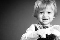 Baby girl smiling portrait Royalty Free Stock Photography