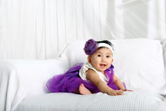 Baby girl smiling Stock Images