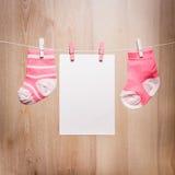 Baby girl socks stock photography