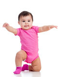 Baby girl standing up Royalty Free Stock Photo