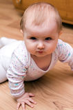 Baby girl stare. Serious stare of a cute baby girl Stock Photography