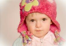 Baby girl staring Stock Photos