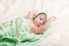 Baby Girl Streching Royalty Free Stock Photos