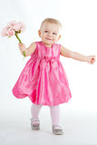Baby girl at studio Royalty Free Stock Photography