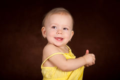 Baby girl at studio Royalty Free Stock Images