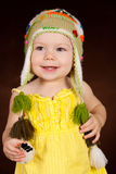 Baby girl at studio Royalty Free Stock Photos