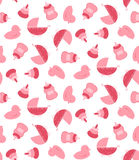 Baby girl stuff seamless pattern Stock Images