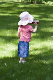 Baby Girl in Sun Hat Royalty Free Stock Image