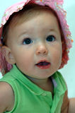 Baby girl in sunhat Royalty Free Stock Photo