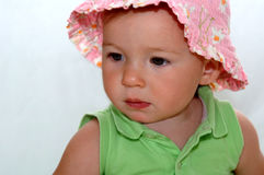 Baby girl in sunhat Stock Photography