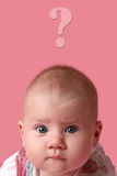 Baby girl with surprised face Royalty Free Stock Photography
