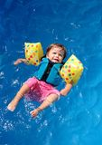 Baby girl in swimming pool Royalty Free Stock Photo