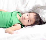 Baby girl take a rest Royalty Free Stock Image