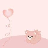 Baby girl teddy bear background Royalty Free Stock Image