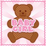 Baby Girl Teddy Bear Stock Image