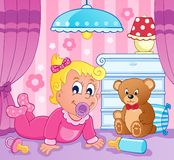 Baby girl theme image 2 Royalty Free Stock Images