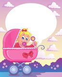 Baby girl theme image 3 Stock Photography