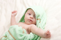 Baby Girl Toddler Stretching Arms Stock Image